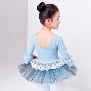 Image 2 - Ballet Tutu Dress Girl Children 3/4 Long Sleeve Performance Tutu Ballet Dance Dress