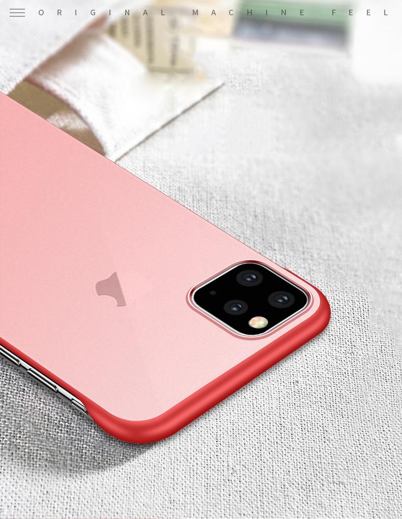 Frameless Slim Matte Hard Back Cases for iPhone 11/11 Pro/11 Pro Max 10