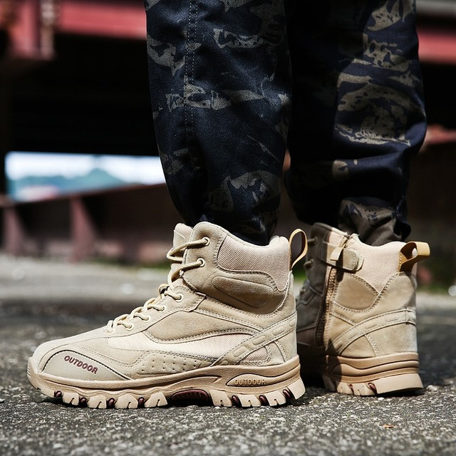 Tactical Military Boots Men Genuine Leather US Army Hunting Trekking Camping Mountaineering Winter Work Shoes Zapatos Hombre 4