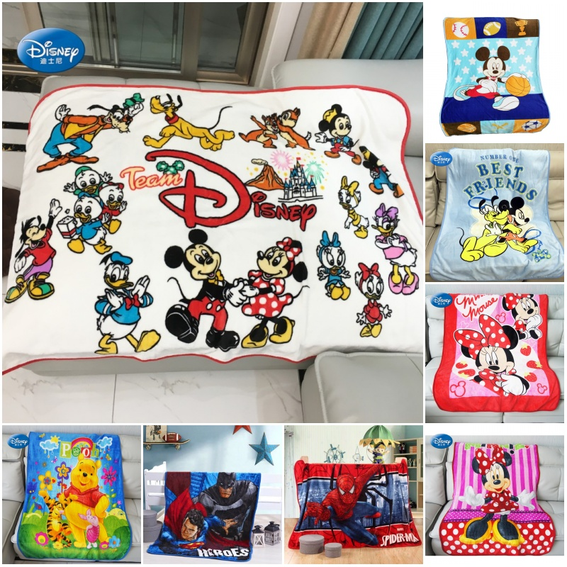 Disney Cartoon Minnie Mickey Mouse Frozen Soft Blanket Throw 100x140cm For Baby Girls Boys Kids Gift On Bed Sofa Travelling Car