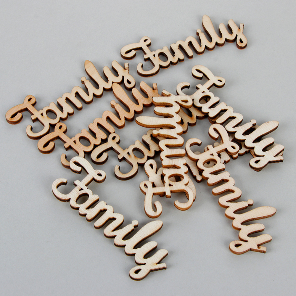 Wooden Family Word Decoration