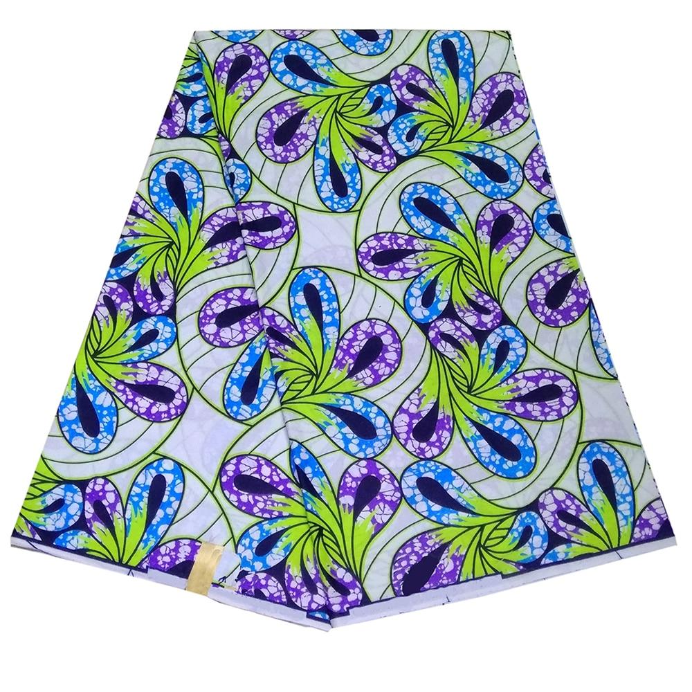 2019 Fashion Design African Print Fabric Nigerian Ankara High Quality Real Wax Colorful Print Fabric