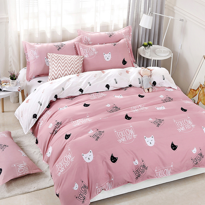 Cats Printing Bedding Set 2pcs/3pcs Duvet Cover Set 1 Quilt Cover+1/2 Pillowcases(no Blanket Or Sheet)twin Full Queen King