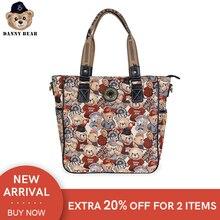 Danny Bear Vintage Shoulder Bag For Women Crossbody Bag Prin