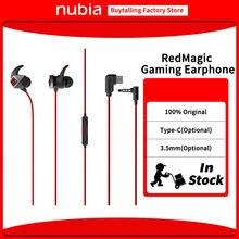 Nubia สีแดงหูฟังหูฟังสำหรับ RedMagic 5G Type C/3.5มม.