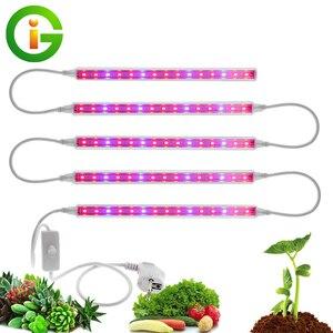 Image 1 - LED לגדול אור AC85 265V T5 Tube מלא הספקטרום LED פייט מנורת צמיחה פנימית אור בר 5pcs אוהל לגדול חממת אקווריום / הרבה