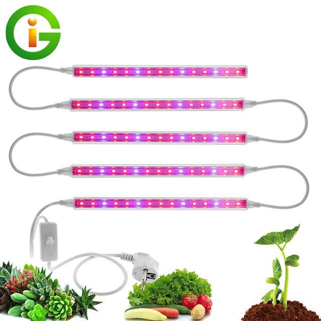 LED לגדול אור AC85 265V T5 Tube מלא הספקטרום LED פייט מנורת צמיחה פנימית אור בר 5pcs אוהל לגדול חממת אקווריום / הרבה