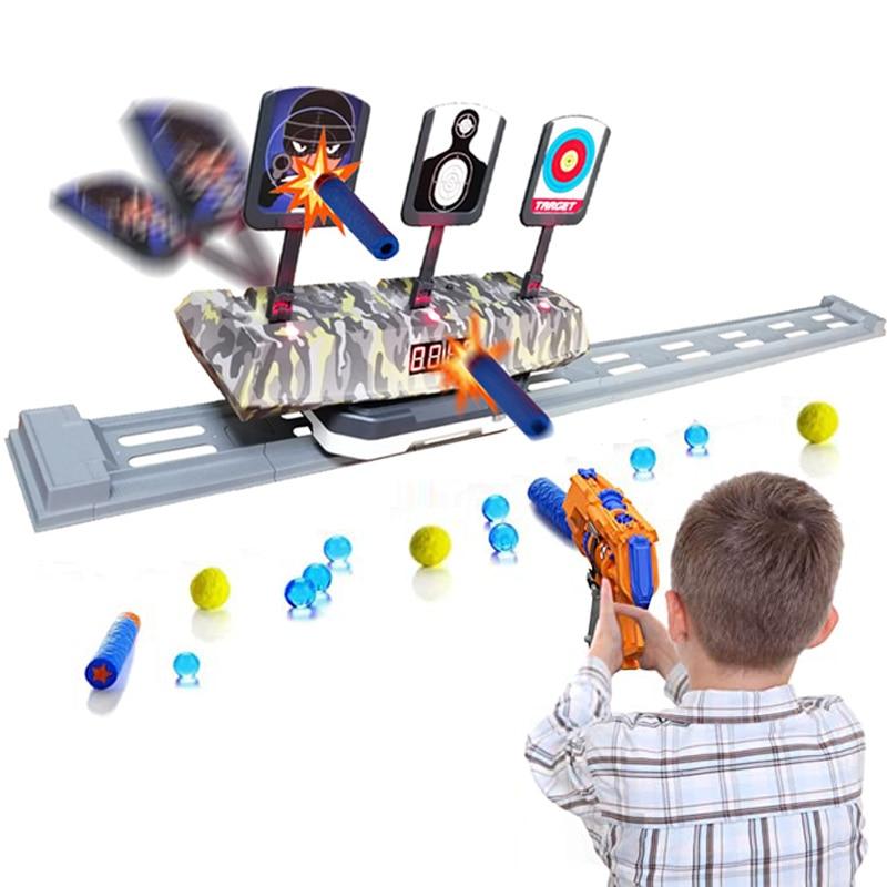 Подсчет автосброса электрическая съемка Дротика мишень игрушки для спортивных игр игрушка для детей мальчиков Игрушка для улицы и помещен...