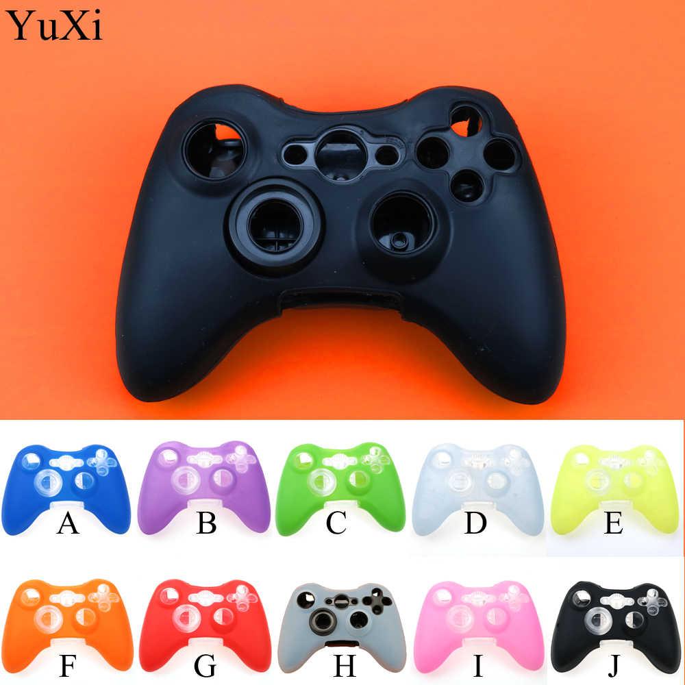 YuXi haute qualité étui en Silicone manchon de Protection pour Xbox 360/Xbox360 jeu contrôleur Silicone lumière Durable