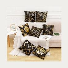 Декоративная Золотая наволочка для подушки полиэстер короткий