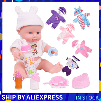12 inch Baby Dolls Reborn Full Silicone Lifelike Baby Alive Fun Educational Toys Birthday Christmas Gift For Kids Surprise Gift цена 2017