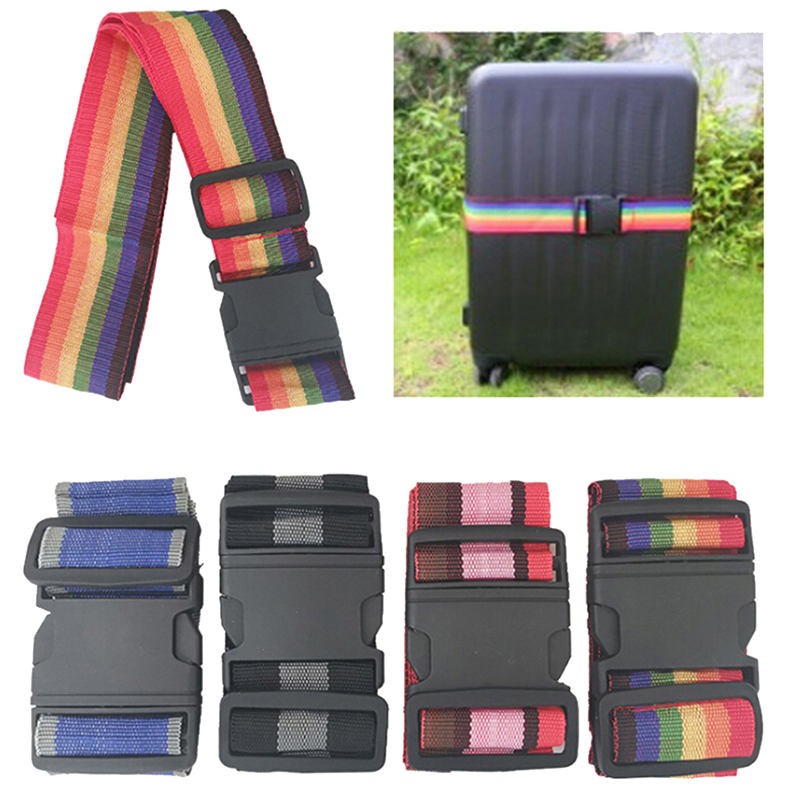 1pcs Luggage Strap Cross Belt Packing Adjustable Travel Suitcase Nylon Lock Buckle Strap Baggage Belts Camping Bag Accessories