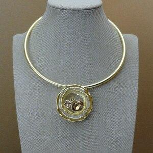 Image 2 - Yuminglai  Italian Gold 24K Dubai Costume Jewelry Sets Necklace and Earrings FHK6842