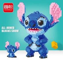 2300pcs+ Stitch Diamond Building Block Micro Lilo & Stitch Figure Cute 3D Model 22cm For Children Mini Bricks Toys 21823