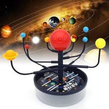 Juego de Sistema Solar para niños, Kit de Ciencia de nueve modelos planetas, interacción entre padres e hijos, juguete educativo