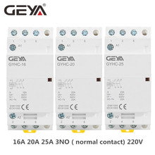 цена на GEYA 3 Phase Modular Contactor 16A 20A 25A 3 Normal Contact 220V Din Rail Household AC Modular Contactor Automatic