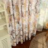American country style Curtains for Living Dining Room Bedroom Plant Printing Linen Curtain Tulle Finished Product Customization