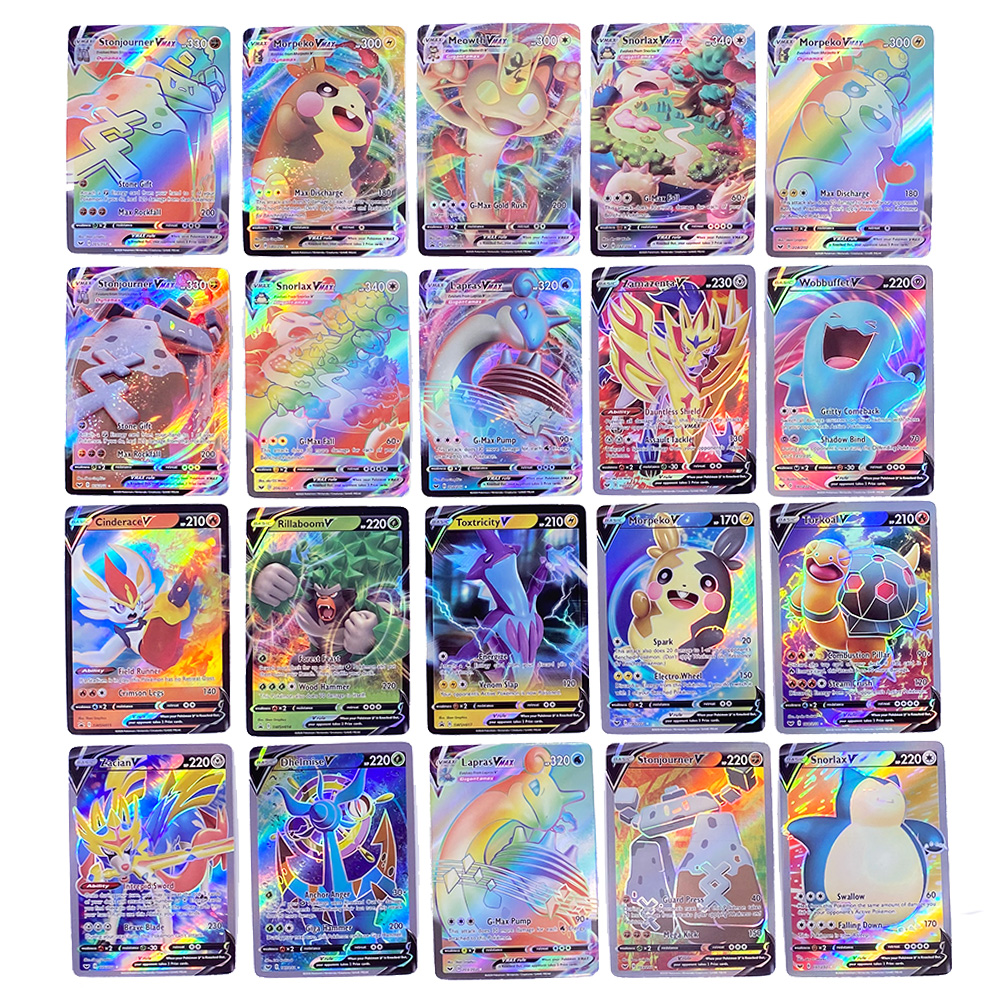 TOMY Pokemon Vmax Card Lot Featuring 45 VMAX 55 TAG Team
