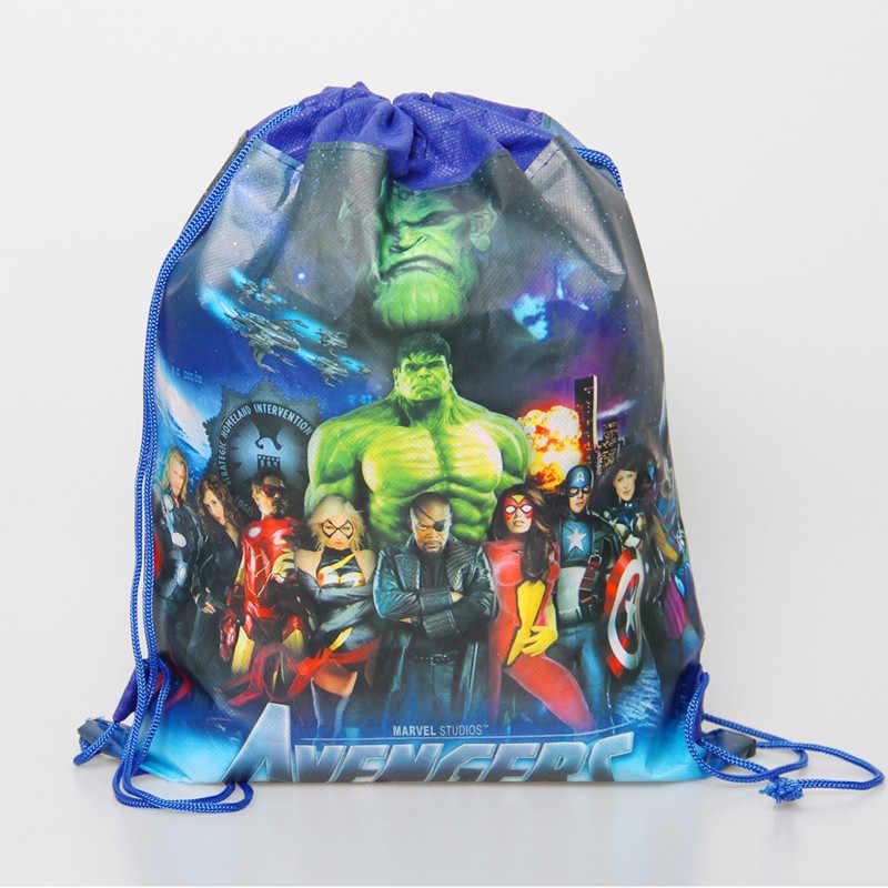 الرباط حقيبة للبنين السفر تخزين حزمة المنتقمون موضوع حفلة هدية عيد ميلاد أكياس غير المنسوجة الأقمشة المدرسية