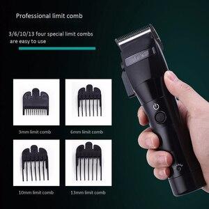 Image 5 - Vgr V 011 máquina de cortar cabelo elétrico carregamento barbeador aparador cabelo máquina corte plugue da ue