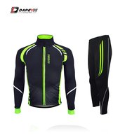 Dareive Winter Thermal Cycling Set Waterproof Windproof Cycling Jacket Warm Cycling Pants Bike Suits Set Cycling Clothing Set