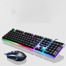 G21 USB Wired Keyboard Mouse Kit Mechanical Suspended Backlight Gaming PC Computer Keypad Mice Set pc gaming keyboard mechanical computer crack gaming keyboard gamer backlight usb wired breathing waterproof mechanical keybord