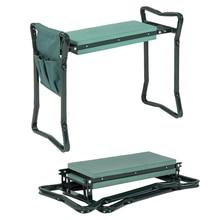 Protector de rodilla multifuncional asiento de jardín y almohadilla para arrodillarse taburete plegable Banco herramienta gomaespuma bolsa herramienta