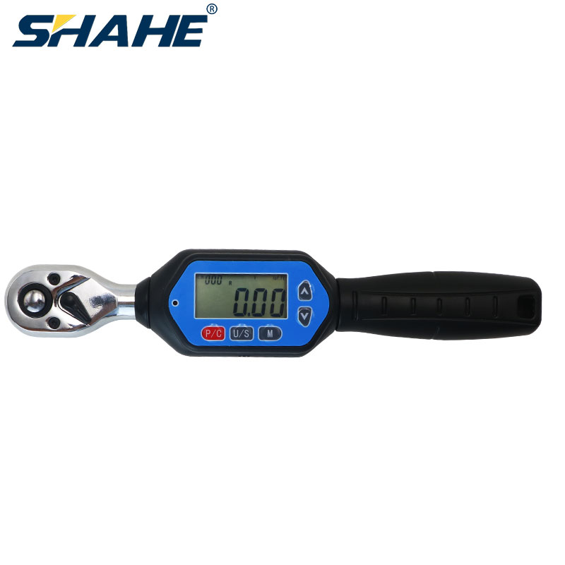 Shahe 1/4'' 3/8'' 1/2'' Mini Torque Wrench Bidirectional Ratchet Head Adjustable Torque Wrench Digital AWM