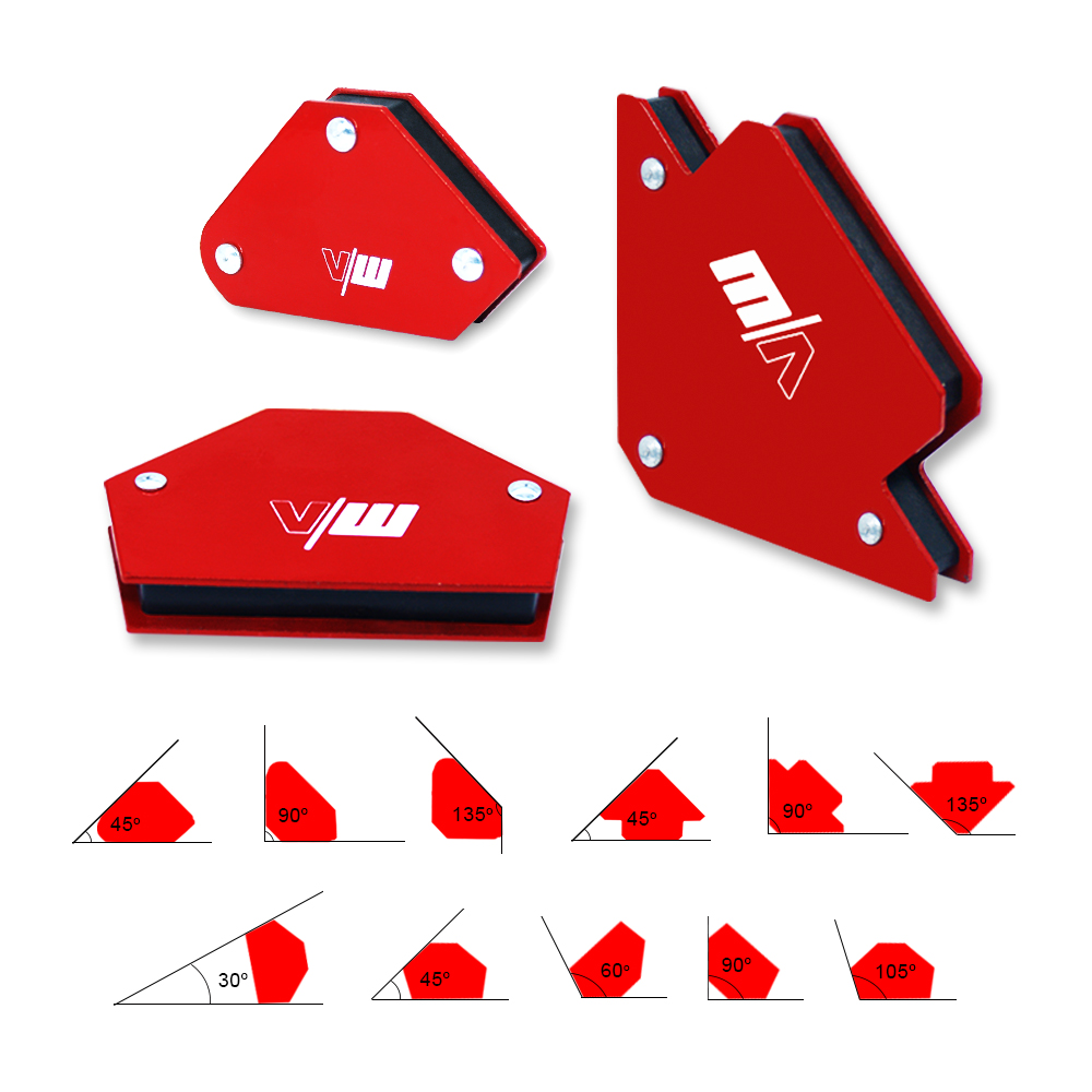 Welding Magnet Holder Set 6pcs Welding Positioner 9lbs 25lbs Multi Degrees Soldering Locator 30 45 90 105 120 135 Degrees
