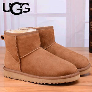 UGG Boots Men Original 5854 Classic Mini Boot Ugged Fur Warm Winter Boots Men's Classic Short Sheepskin Snow Boot