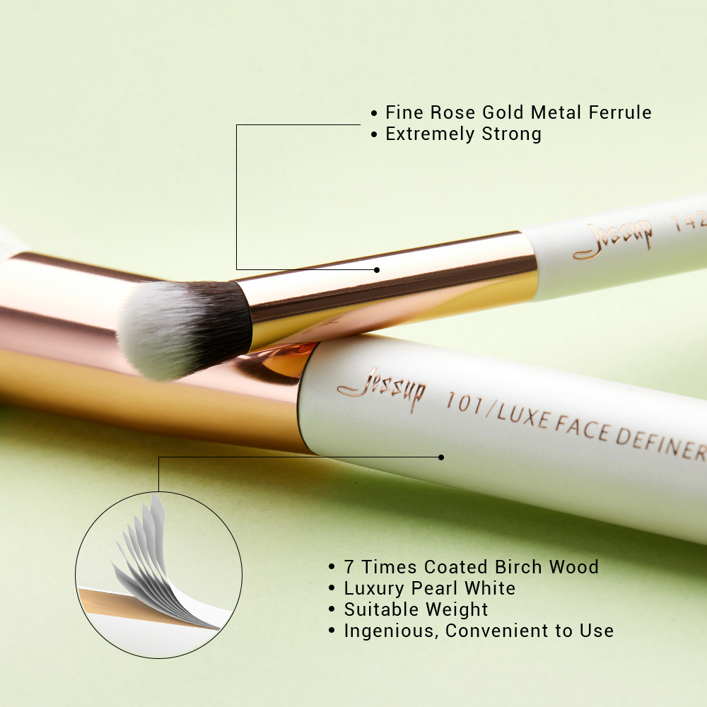Image 3 - Jessup Beauty Makeup Brushes Kit 15pcs Natural synthetic Hair pinceau maquillage Blending Powder Liner Cosmetics Tool T222jessup brushesprofessional makeup brushesset makeup brushes -