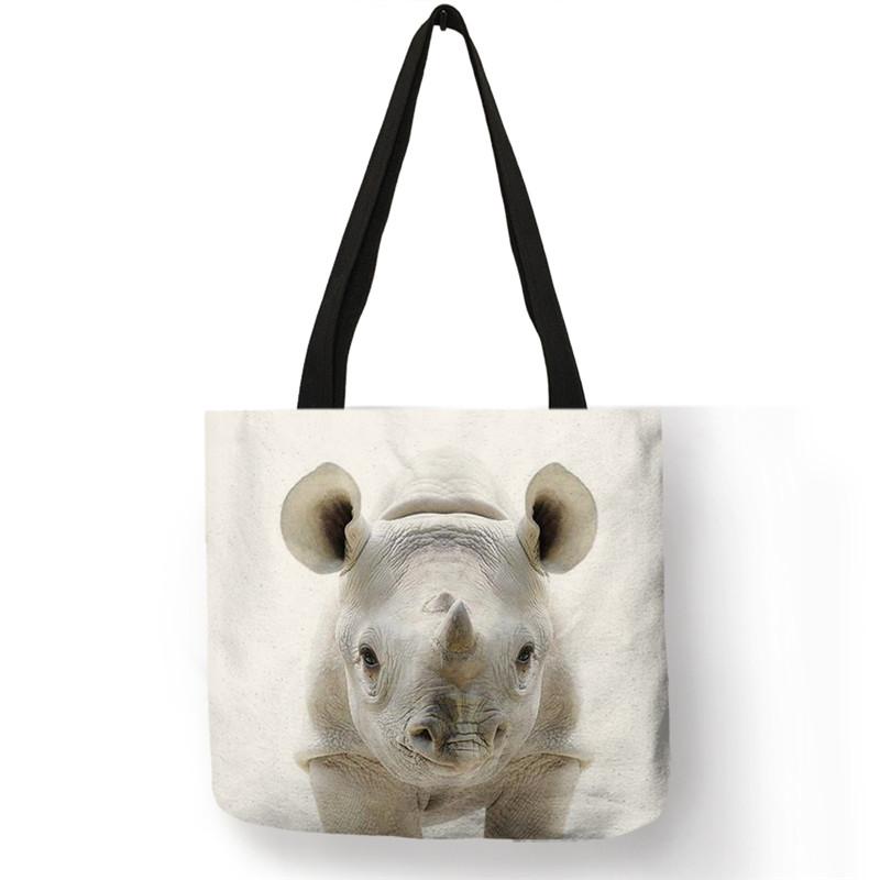 Sac en toile de lin Bébé Tigre Blanc Créer Son T Shirt