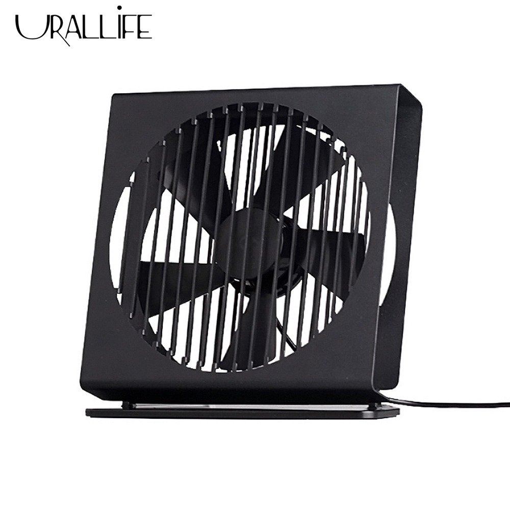 Urallife Portable Ultra Thin Desktop <font><b>Fan</b></font> Mini Metal Mute <font><b>Fan</b></font> 5 Blade Dual Mode Home Office Desk Brushless <font><b>Motor</b></font> <font><b>Fan</b></font> Air Cooler image