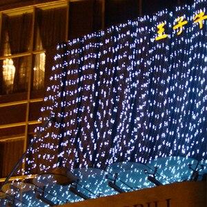 Image 5 - Thrisdar 2x3 m/3x3 m led 태양 창 커튼 문자열 빛 야외 정원 태양 커튼 고드름 갈 랜드 빛 크리스마스 휴가