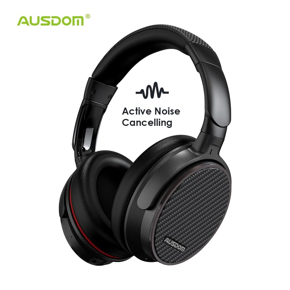 Ausdom ANC7S Active Noise Cancelling Fones de Ouvido Sem Fio Bluetooth Fone de Ouvido com Microfone Som Puro para TV Esportes Metrô Avião