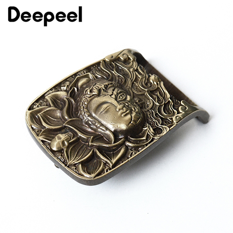 Deepeel 40mm Fashion Solid Brass Belt Buckle Design Luxury Pure Copper Clasp Buckle Belt Head DIY Leathercraft Decor Accessories