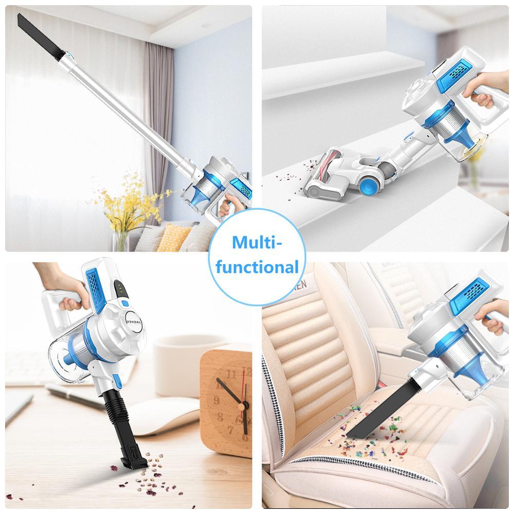 Купить с кэшбэком Cordless Vacuum Cleaner, Cordless Stick Vacuum Cleaner Wireless Lightweight Handheld Vacuum Cleaner 2 in 1 with Rechargeable Lit