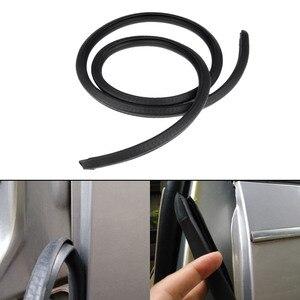 Image 2 - 2x80cm tira de vedação de borracha isolamento acústico do carro guarnição para b pilar ruído à prova vento borda da porta tiras de vedação de borracha estilo do carro