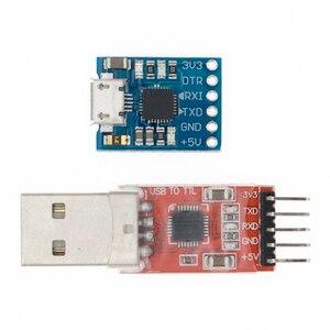 Image 1 - Módulo USB A TTL serial UART, cable de descarga STC, actualización de línea de pincel, tipo A, Micro USB, 5 pines y 6 pines, 50 Uds., CP2102
