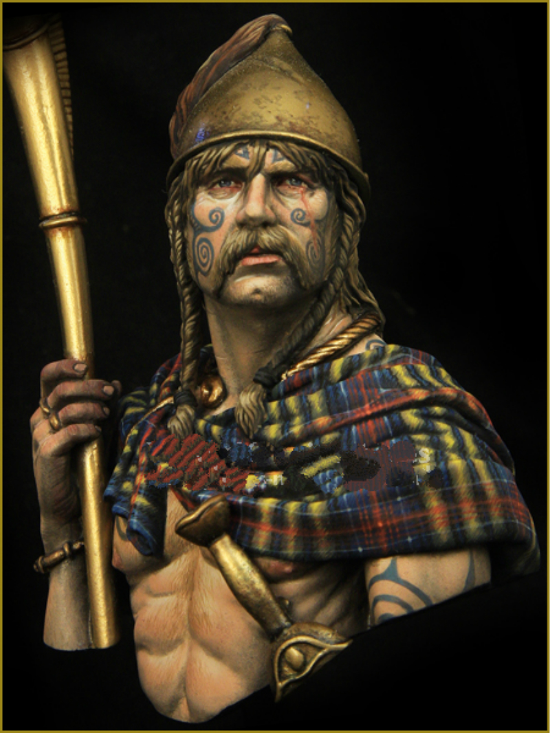 1/10 Resin Bust Model Kit  Ancient Vikings ( Included Crow )Unpainted XX159