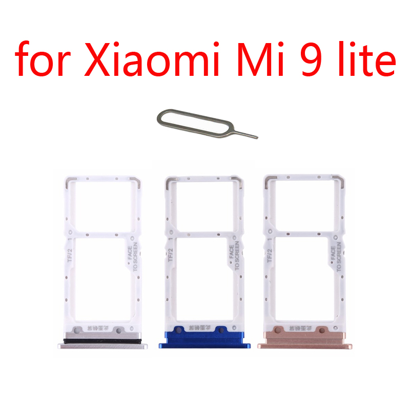 SIM Card Tray Adapter For XIAOMI Mi 9 Lite 9lite Original Mobile Phone Housing New Chip Micro SD SIM Card Holder Slot + Tools