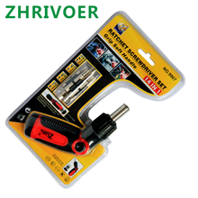 14 in one maintenance hardware tool rotatable storage multi-functional ratchet screwdriver combination household hardware set multi functional emergency toolbox with lamp combination suit home hardware tool