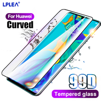 Vidrio de pegamento de gelatina de cubierta completa para Huawei P30 Pro P40 Mate 20 30 Pro Protector de pantalla para Honor Nova 7 30 Pro Plus Vidrio Templado