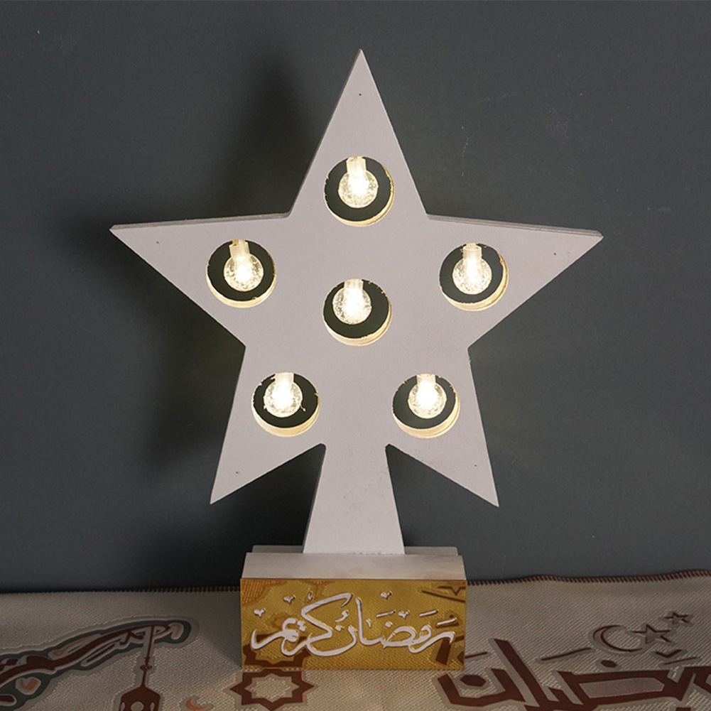 Home Bedroom Holiday Fairy Indoor Outdoor Led Decorative Light Table Lamp Birthday Gift Room Party Star Shape Garden Iron