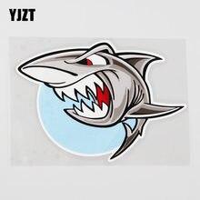 Yjzt 13.5cmx9.5cm feroz tubarão carro adesivo decoração de decoração para casa pvc decalque 6a-0106