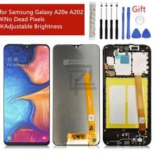 لسامسونج غالاكسي A20e شاشة الكريستال السائل A202 2019 مجموعة المحولات الرقمية لشاشة تعمل بلمس SM A202F/DS غيار للشاشة إصلاح أجزاء