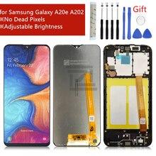 Жк дисплей для Samsung Galaxy A20e, сенсорный экран A202 2019, дигитайзер в сборе, сменные детали для жк дисплея с разъемом на экран, для Samsung Galaxy A20e, запасные части