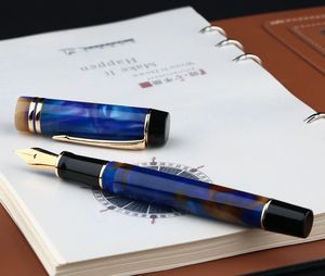 Image 4 - Moonman pluma estilográfica de resina acrílica M600S, iridio F, pluma de tinta de punta, caja Original