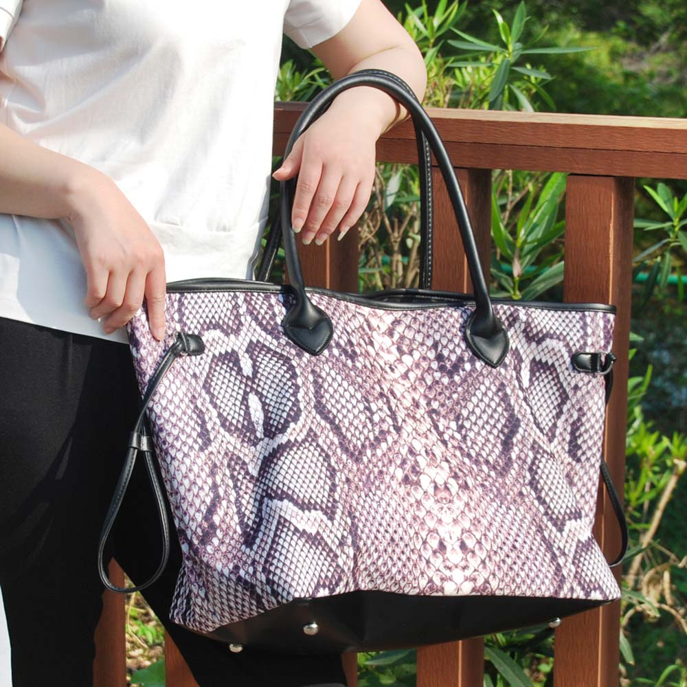 2pcs Python Tote กระเป๋าขายส่งช่องว่างงูพิมพ์ผ้าใบ String กระเป๋าถือไม่มีที่สิ้นสุดผู้หญิงกระเป๋า DOM1061269-ใน กระเป๋าหูหิ้วด้านบน จาก สัมภาระและกระเป๋า บน   1