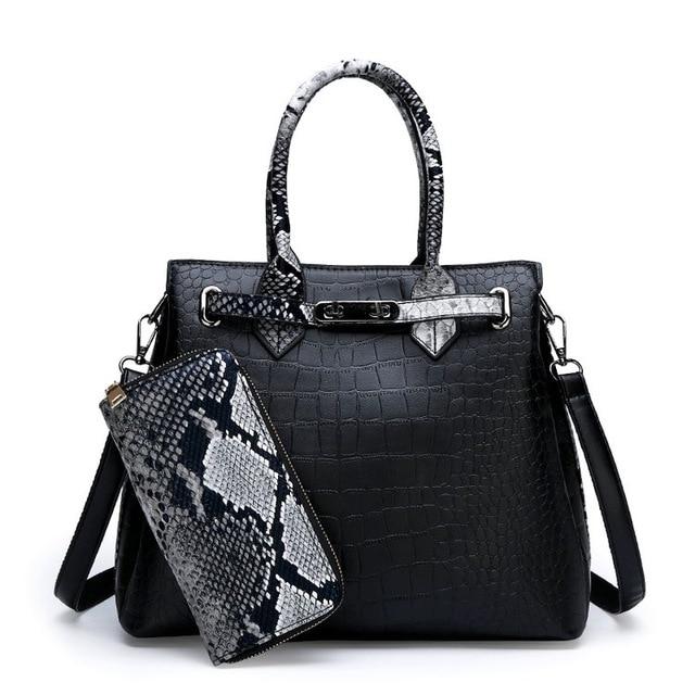 Women's bag luxury high quality classic crocodile pattern handbag brand designer large capacity OL shoulder Messenger bag